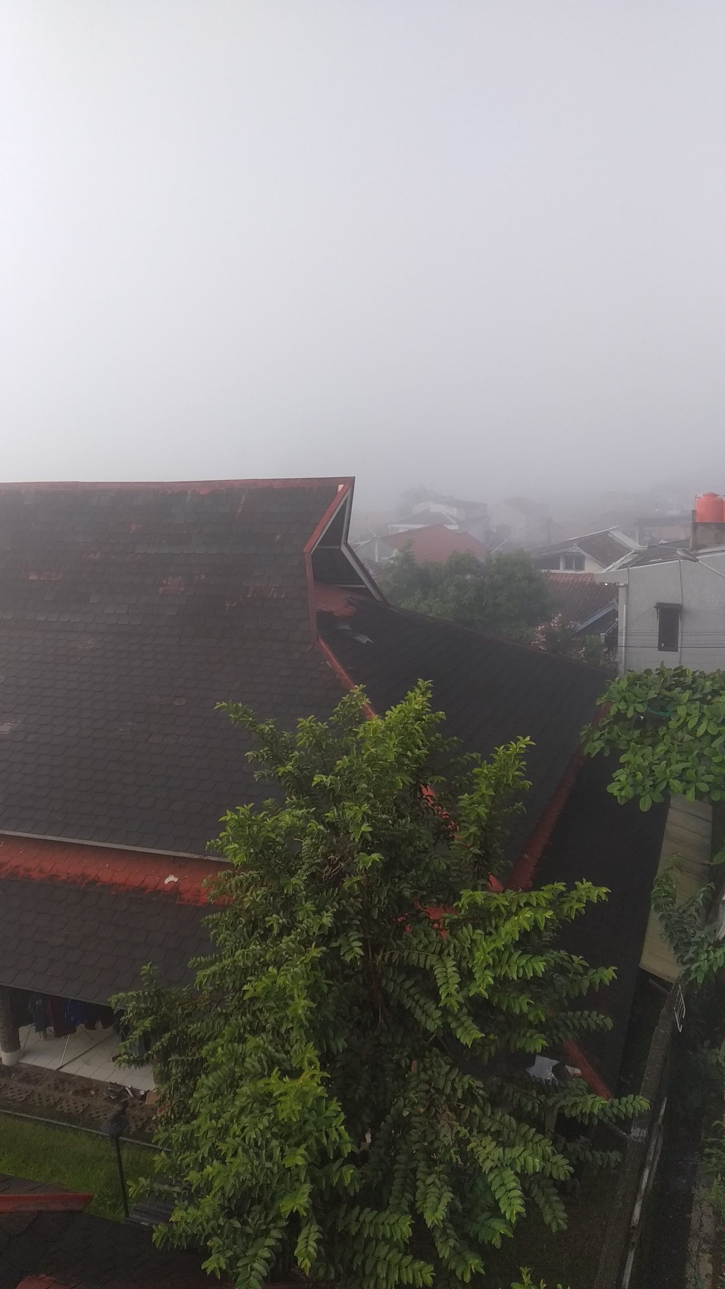 Foggy Morning in Bandung on April 29th, 2020 at 06.55